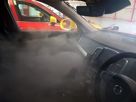 The ECAS fogging system has proven to be effective in the disinfection of large, enclosed spaces such as vehicles. (Image: Global Ecology Group)