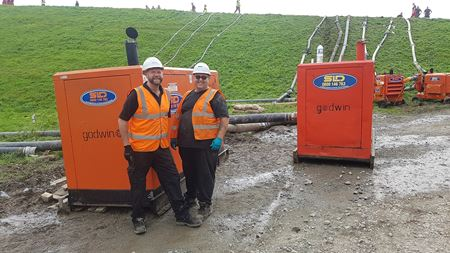 Xylem pumps aid Whaley Bridge dam operation