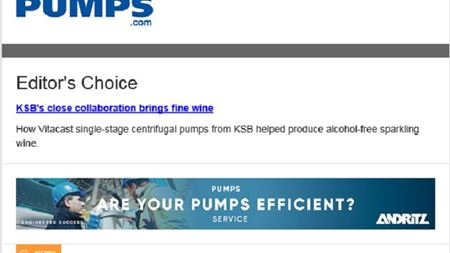 World Pumps weekly e-newsletter