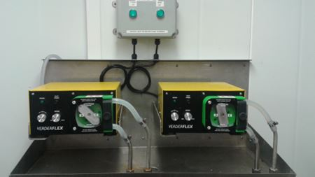 Peristaltic pumping in dairy CIP system