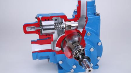 Larger air valve for motor vane pumps