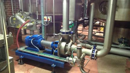Wort pump replacement in brewery