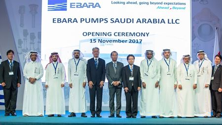 Ebara inaugurates pump workshop in Saudi Arabia
