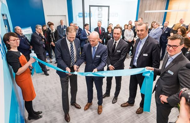 Members of Xylem's leadership team pictured at the official opening of Xylem's new Warsaw facility.