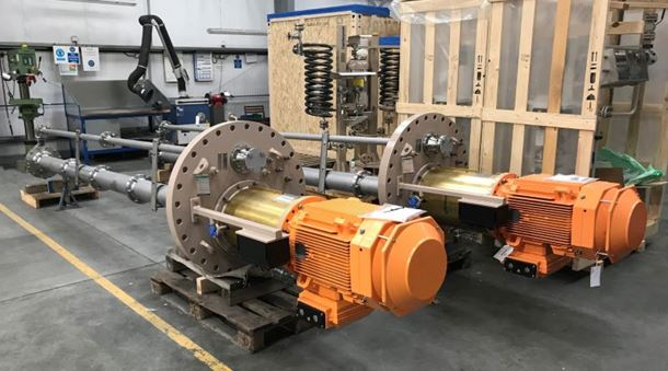 Amarinth API 610 VS4 vertical pumps with Plan 53B seal support systems being readied for shipment to the Garraf Oil Field Development in Iraq.