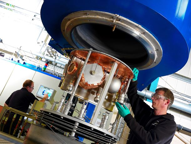 A Hardide coating reactor being loaded.